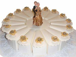 Gastgeschenke Torte zur Hochzeit Brautpaar GG0062 Goldhochzeit