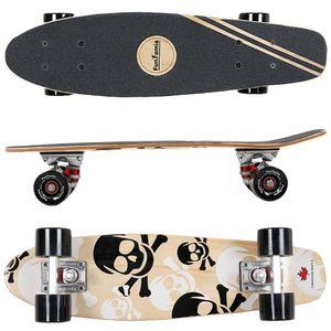 Design weiß Totenkopf FunTomia® Holz Mini-Board - 2060