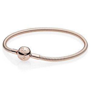 Pandora Rose 580728 Armband mit Kugelverschluss, glatt 19 cm