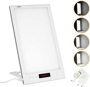 SPEED Tageslichtlampe 12000 Lux 12w Dimmbare LED mit 40 Einstellbare Helligkeitsstufen, Timer und Speicherfunktion