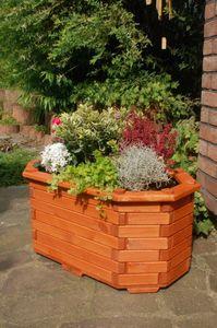 Pflanzkasten, Blumenkasten, Blumenkübel aus massivem Holz, für den Garten, (ohne Blumen)