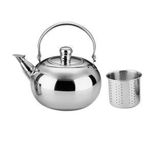 1.6l Edelstahl Camping Teekanne Kaffeekanne mit Sieb für Wasser / Tee / andere Getränke