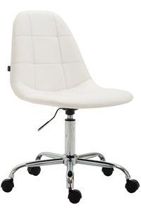 CLP Bürostuhl Reims Kunstleder drehbar und höhenverstellbar, Farbe:weiß