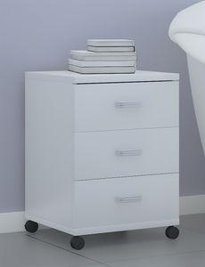 VCM Rollcontainer Bürocontainer Schubladenschrank Büroschrank Schubladen Tobila Weiß