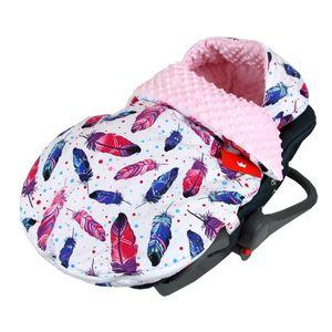 BabyLux Fußsack SOMMERFUßSACK 90cm Minky Babyschale Kinderwagen 9. Rosa + Feder