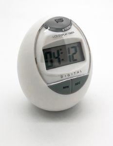 Digitale Eieruhr -  Küchentimer - Kurzzeitmesser in Eiform weiß