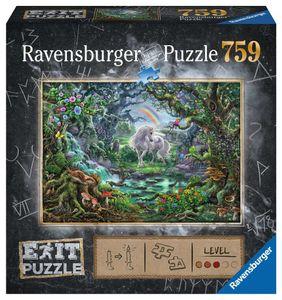 RAVENSBURGER Erwachsenenpuzzle EXIT Einhorn EXIT Puzzle 759 Teile