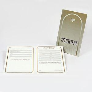 Zertifikat inhaltlos oder bei NKlaus erworbene Artikel Schmuckzertifikat 3221