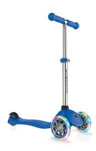 Scooter Kinderroller Globber Primo lights navy-blau mit Leuchtrolle