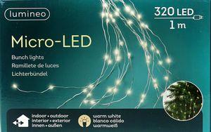 Lumineo Micro LED Lichterbündel Lichterkette 100 cm 320 Lichter warmweiß FWK