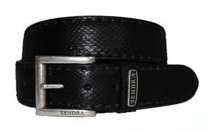 Sendra Gürtel Schlangenleder Python 8563 black, Länge:95 cm