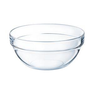 Arcoroc ARC 10022 Empilable Schale, Stapelschale, Schüssel, 20cm, 1.8 Liter, Glas, transparent, 1 Stück