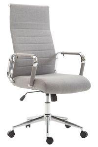 CLP Bürostuhl Kolumbus Stoff höhenverstellbar und drehbar, Farbe:grau