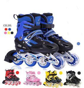 Kinder  Inliner Rollschuhe Schlittschuhe Verstellbar S(31-34 )  Blau