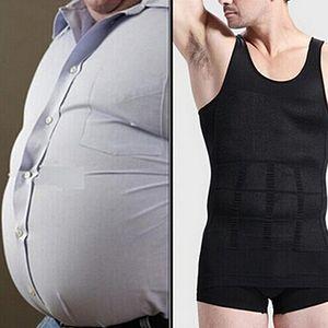 Herren Slim Body Shaper Weste Tank Top Bauch Taille Unterwäsche Bier Bauch schlanker Schwarz M ALCYONEUS1