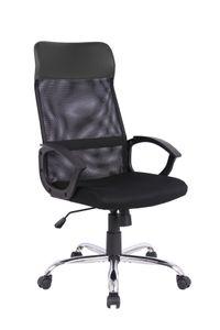 HOMEXPERTS Chefsessel BOLT, Schreibtischstuhl mit Metallfußkreuz, Drehstuhl mit Wippmechanik mit Härtegradeinstellung