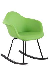 CLP Stuhl Merry Kunstleder mit Metallgestell, Farbe:grün