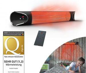 Livington Instant Heater | Infrarot-Heizstrahler 2000 Watt | Infrarot-Heizung für Innen- & Außenbereich | 4 Heizstufen | Fernbedienung | Abschaltautomatik | IPX4 | Das Original aus dem TV