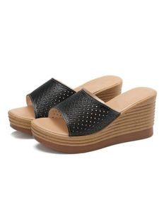 Damen Home Sandalen Und Hausschuhe Fashion Beach Schuhe Wedge Sandalen Plateau Hausschuhe,Farbe: Schwarz,Größe:40