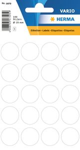 HERMA Markierungspunkte Durchmesser: 19 mm weiß 100 Stück