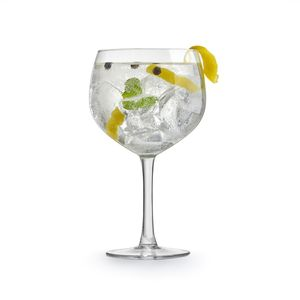 4x Gin Tonic Glas 650 ml Klarglas Cocktail-Kelch Ballonglas Cocktailspitz Gin Tonic Glass