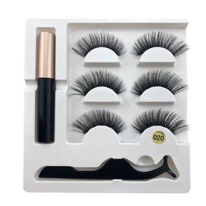 Magnetische falsche Wimpern Set mit Applikator Wimpern Mascara 3D Schwarz Dual Magnetische gefälschte Wimpern für Wimpernverlängerung wiederverwendbar