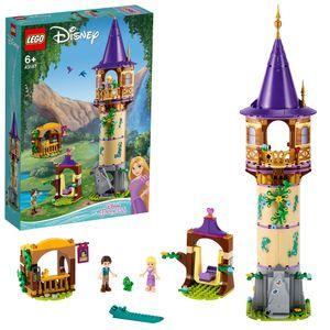 LEGO 43187 Disney Princess Rapunzels Turm, Spielset mit 2 Minipuppen aus dem Film Rapunzel - Neu verföhnt