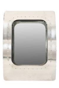 SIT Möbel Wand-Spiegel | Mangoholz, MDF, Aluminium | silber | B 47,5 x T 17 x H 65 cm | 01789-21 | Serie AIRMAN