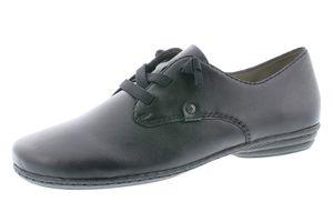 Rieker 53944 Damen Halbschuhe Sneaker Schnürschuhe Leder, Größe:38 EU, Farbe:Schwarz