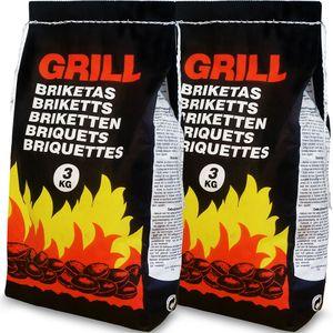 Deuba Holzkohle Grillkohle Holzkohlebriketts Holzkohlegrill Grill, Menge:6 kg