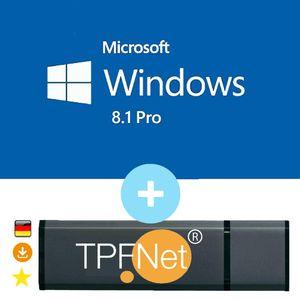 Microsoft® Windows 8.1 Pro 32 bit & 64 bit - Original Aktivierungsschlüssel mit bootfähigen USB Stick von - TPFNet®
