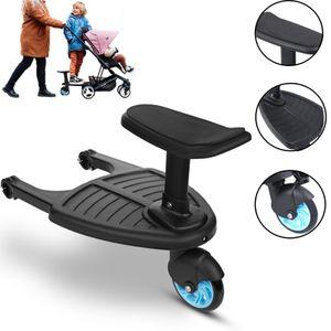 25KG Universal Buggyboard Kinder Board Trittbrett Sitz Kinderwagen Rollbrett Für Kiddy (Blau)