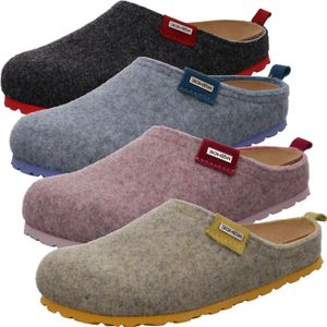 Rohde Damen Hausschuhe Pantoffeln Softfilz Napoli-D 6800, Größe:39 EU, Farbe:Grau