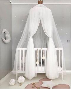weiß Betthimmel Baldachin für Mädchen und Jungen ,Deko Kinder Kinderzimmer Bett Moskitonetz aus Tüll,60 x 240 cm