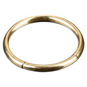 viva-adorno 1,2x8mm Segmentring Piercing Ring Chirurgenstahl in verschiedenen Farben und Größen Z228,Gold