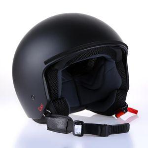 "Motorradhelm Jethelm Rollerhelm Helm CMX ""Joey"" matt schwarz : L"