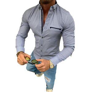 Herren Hemd Business langarm Regular Fit bügelfrei navy Gr.41 Businesshemd