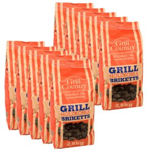 GRILL COUNTRY Grillkohle Briketts 25 kg