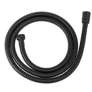 Schwarzer Duschschlauch Brauseschlauch für Handbrausen 150cm lang - 1/2 Zoll Standardanschluss - Schwarz beschichtet