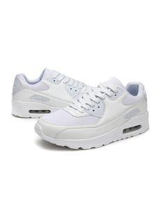 (Weißes Netztuch,43)Uni Lässige Flache Schuhe Plateauschuhe Kissen Spitze Loafer Turnschuhe Runde Zehe