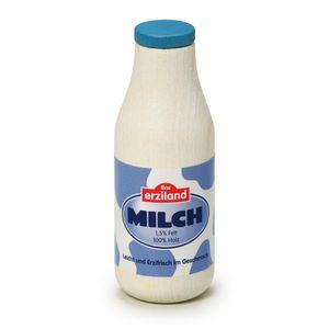 5 Stück Erzi Milchflasche, Spielzeug-Milchflasche, Holz-Milchflasche, Kaufladenzubehör