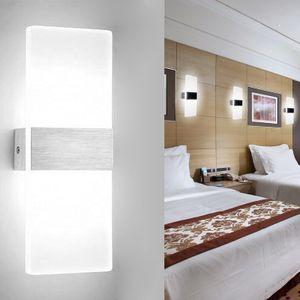 Hengda LED Wandleuchte innen 6W Modern Wandlampe Acryl Wandbeleuchtung fuer Wohnzimmer Schlafzimmer Treppenhaus Flur,Kaltweiss
