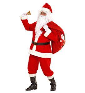 Komplettes Weihnachtsmann Kostüm mit Verkleidung und Perücke M/L