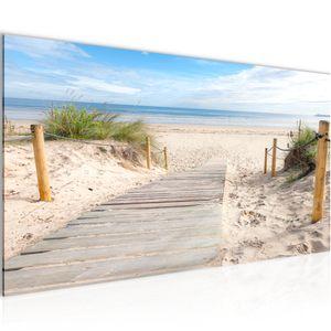 Strand Meer BILD 100x40 cm − FOTOGRAFIE AUF VLIES LEINWANDBILD XXL DEKORATION WANDBILDER MODERN KUNSTDRUCK MEHRTEILIG 607312b