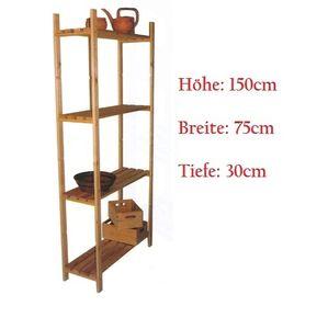 Haushaltsregal 4 Böden 150x75x30cm Holzregal
