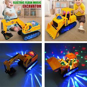 2PCS LED Light Elektro Baufahrzeug Bagger LKW Engineering Auto