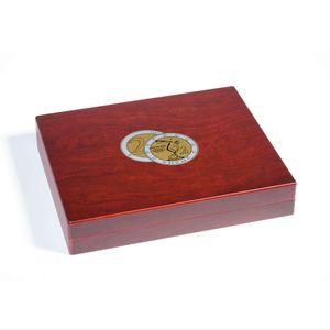 Leuchtturm Münzkassette VOLTERRA TRIO 2Euro Münzen gekapselt 26mm Sammelbox Holz