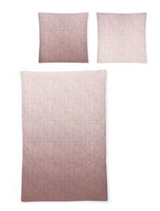 Irisette Biber Bettwäsche 2 teilig Bettbezug 155 x 220 cm Kopfkissenbezug 80 x 80 cm Feel 8212-70 mauve