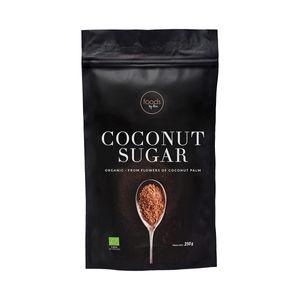 Foods by Ann,Kokosblüten-Zucker 250g, tiefbraune Farbe und einen intensiven Karamellgeruch, niedrig glykämischen Index,  Natur-Zucker