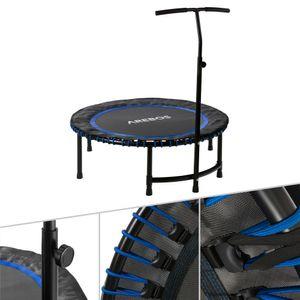 AREBOS Fitnesstrampolin rund in Blau - Direkt vom Hersteller